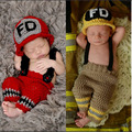 Super Lovely ! Hammock Newborn Crochet Outfits Design Warm Boy Baby Hat Infant Newborn Clothes Photography Prop Fotografia 2pcs