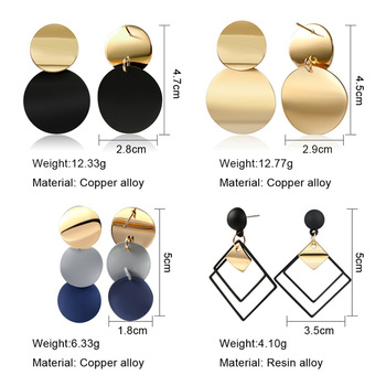 New Korean Heart Statement Drop Earrings 2020 for Women 3