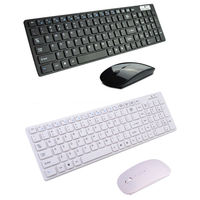Wireless Multimedia Mouse Keyboard Set Stand By IOS Apple Android Windows System For Smartphone Laptop Tablet