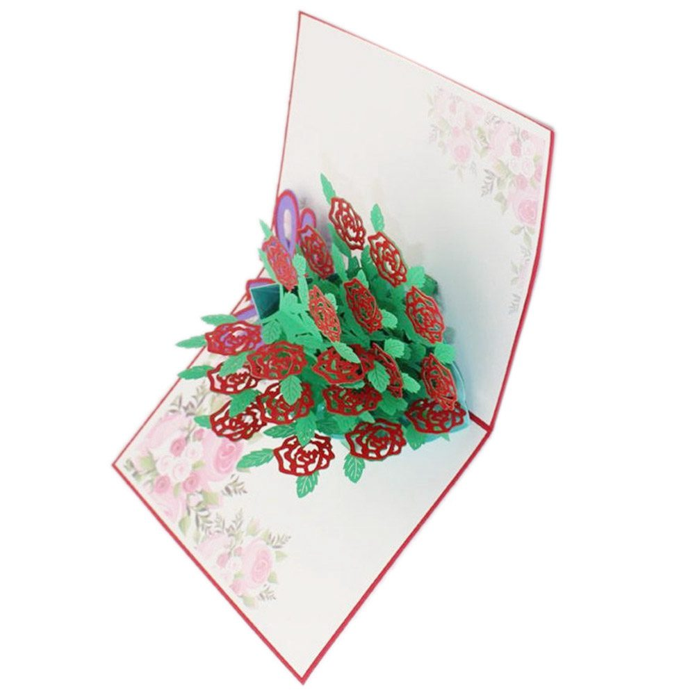 Perfect-3D Pop Up Cards Valentine Birthday Anniversary gift Greeting Cards postcard (#B)