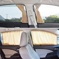 2 teile/satz Aluminiumlegierung Elastic Auto Seitenfenster sonnenschutz Vorhänge Auto Fenster Vorhang Sonnenblende Jalousien Abdeckung auto styling S  M  L-in Seite Fenster Sonnenschutz aus Kraftfahrzeuge und Motorräder bei