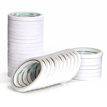 Tape Sponge Double-Sided White Adhesive 9mm*9.1m Wide Durable Two-Sided School Office Stationery