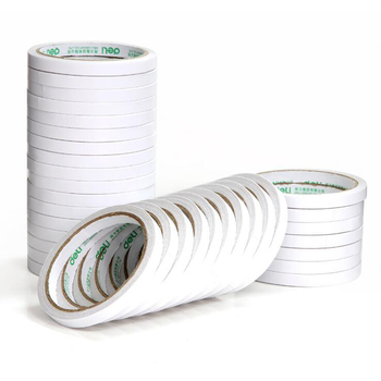 Tape Sponge Double-Sided Tape White Double-Sided Adhesive 9mm*9.1m Wide Durable Two-Sided Tape School Office Stationery mac duo sided sponge