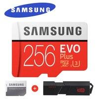 サムスンevoプラスマイクロsdメモリカード256ギガバイト95メガバイト/秒クラスu3 uhs-i tfカード4 k hd用携帯電話スマートフォンタブレットな