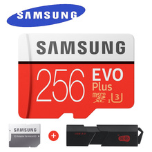 Samsung EVO Plus Micro SD карты памяти 256 ГБ 95 МБ/с. Class10 U3 UHS-я карты памяти 4 К HD для мобильного телефона смартфон Планшеты и т. д.