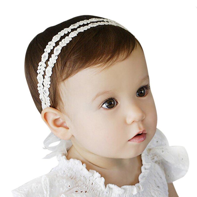 Infant Baby Toddler Girl Bow Tail Diamond Headband Cute Headwear Hair Band Headdress Vestido Infantil
