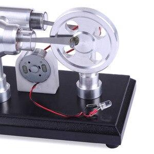 Image 4 - Doppel zylinder Micro DIY Stirling Motor Externe Verbrennung Motor Schule Demonstration Frühen Lernen Bildung Spielzeug Für Kinder