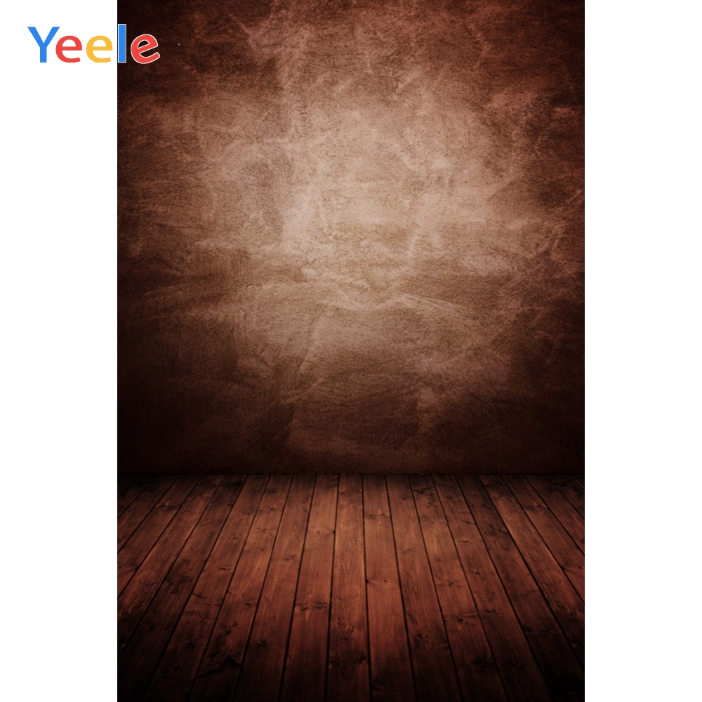Yeele Old Solid Gradient Color Wall Wooden Floor Photography Backgrounds Customized Photographic Backdrops For Photo Studio
