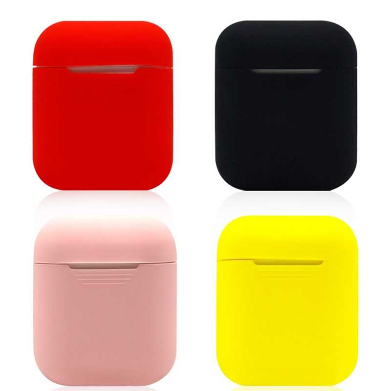 Solid color For AirPods Case Earphone Case TPU Silicone Bluetooth Wireless Headphone Protector Cover for Apple Airpods Case