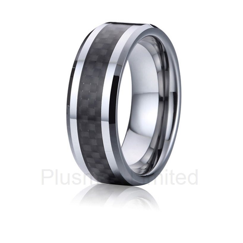 high quality China Supplier special occasion for men and women titanium carbon fiber wedding band rings 2016