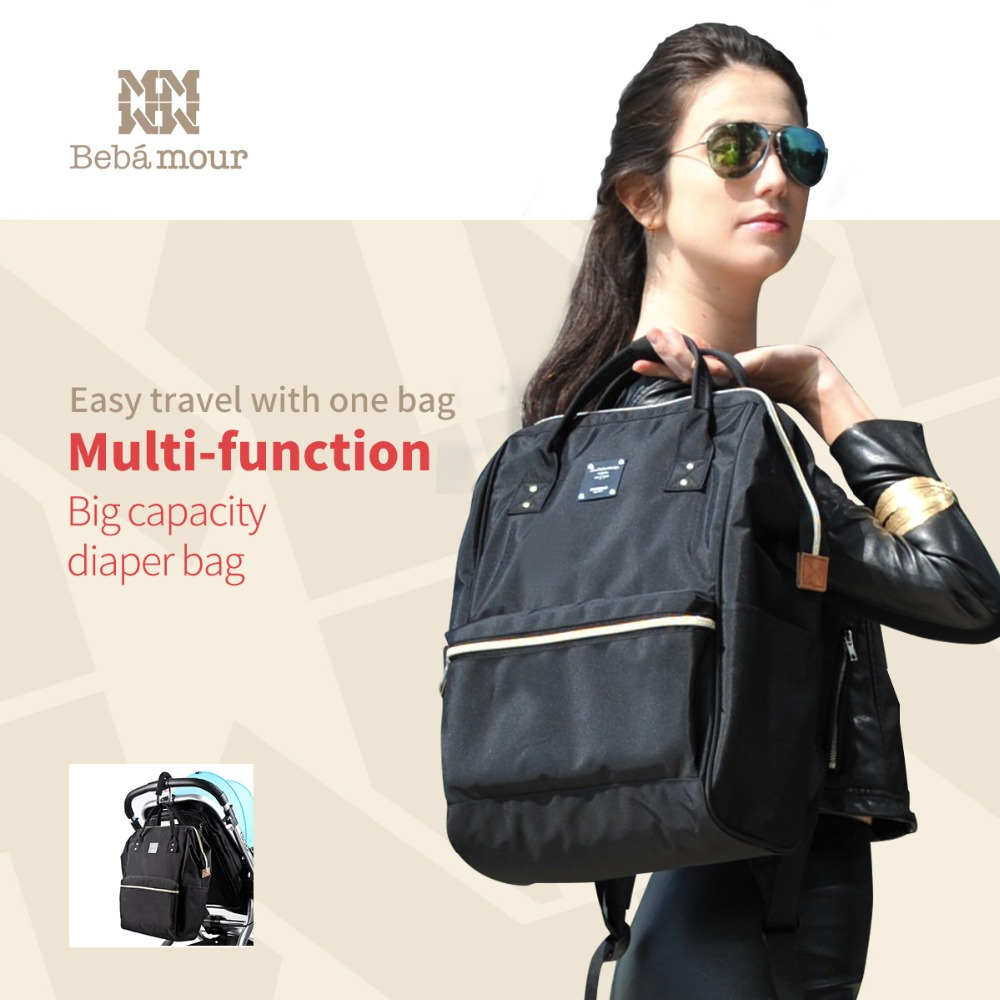 New Baby Diaper Bag with Exclusive Insulated Bag Mother Nappy Bags Travel Backpack Waterproof Handbag for Moms Tote Bags