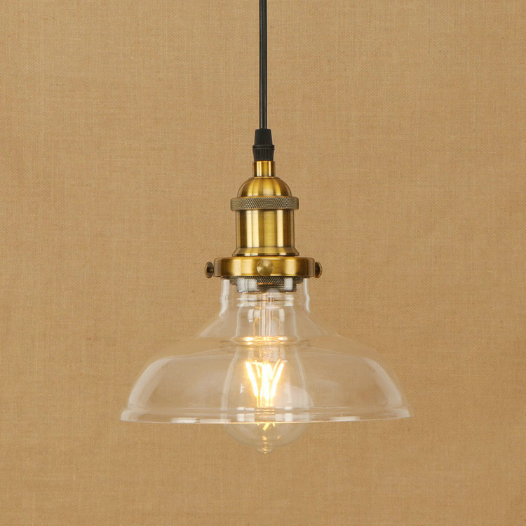 IWHD Glass Lamparas Hanging Lamp Led Loft Industrial Lighting Pendant Lights Edison Bulb Light Fixture e27 220v For Decor vintage rustic metal lampshade loft edison pendant lamp lights retro iron hanging lamp fixture industrial lighting lamparas
