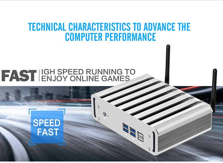 XCY X31 Mini PC with Intel Core i3 4010U i5 4200U i7 4500U CPU Option and 6*USB Ports for Windows 10 Linux 10