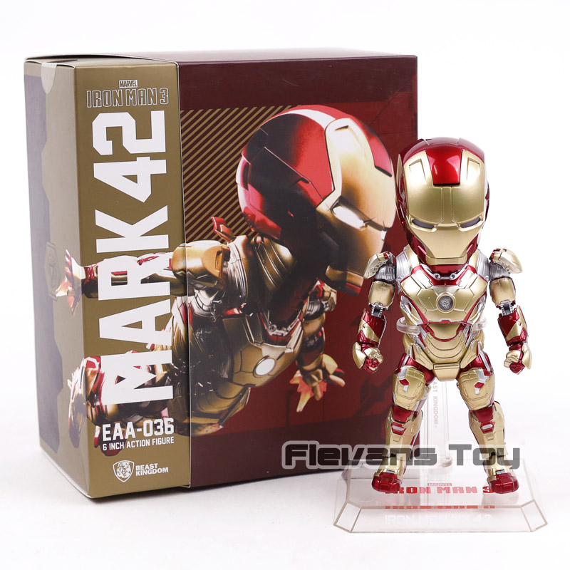 Egg Attack EAA 036 Iron Man 3 MARK XLII MK 42 PVC Action Figure Collectible Model Toy with LED Light стоимость