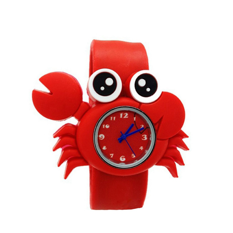 Children's Watches Cartoon Kids Wrist Baby Watch Clock Quartz Watches For Gifts Relogio Montre Crab