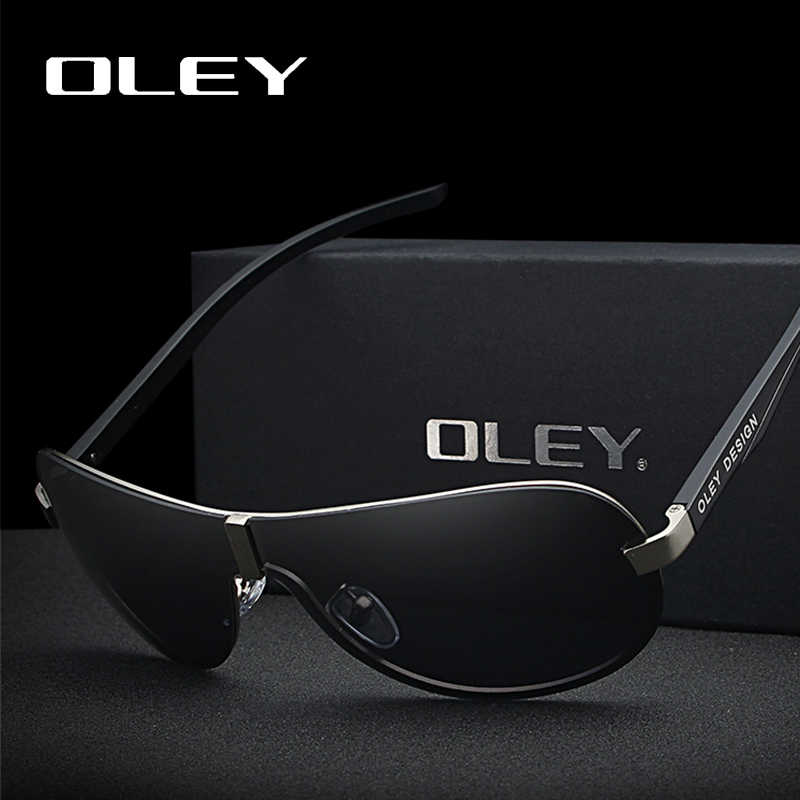 e96962d2109 OLEY Brand Male Polarized Sunglasses Large Frame Borderless Classic Pilot Sun  Glasses Outdoor driving anti glare
