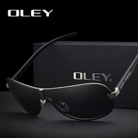 OLEY Brand Male Polarized Sunglasses Large Frame Borderless Classic Pilot Sun Glasses Outdoor driving anti glare UV400 goggle