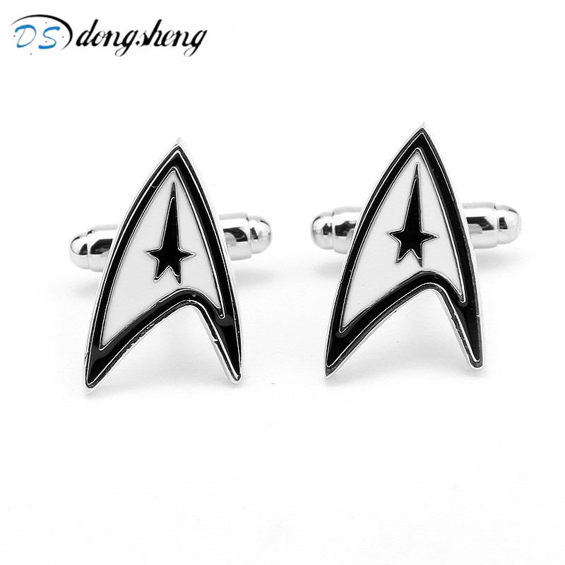 dongsheng Movie Star Trek Vintage Warship Cufflinks High Quality French Shirt Cuff Links Brand Cuff Button For Mens Gift-40 xkzm brand cuff links luxury blue glass cufflinks for mens high quality round crystal cufflinks shirt cuff button wedding gift