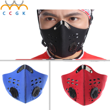 Gas Mask With Glasses Full face Protective Mask Abti-Dust Paint Chemical Masks Activated Carbon Fire Escape Breathing Apparatus
