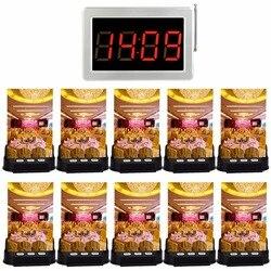 Ресторан настольный звонок Системы официант Беспроводной вызова Системы регистрации карты пейджерам 1 приемник Дисплей + 10 кнопку вызова о...