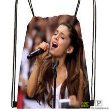 Custom Ariana-Grande @02-Drawstring Backpack Bag Cute Daypack Kids Satchel (Black Back) 31x40cm#180611-03-114