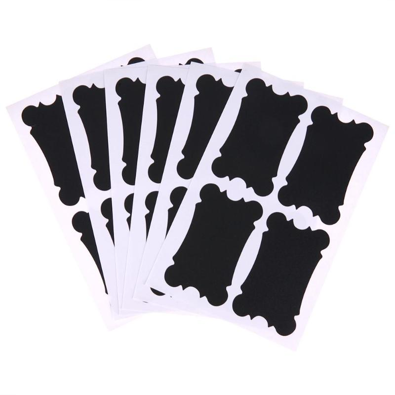 6 Set Removable Blackboard Paint Label Wedding Kitchen Restaurant Signs Chalkboard Paint Writing Message Notice Board