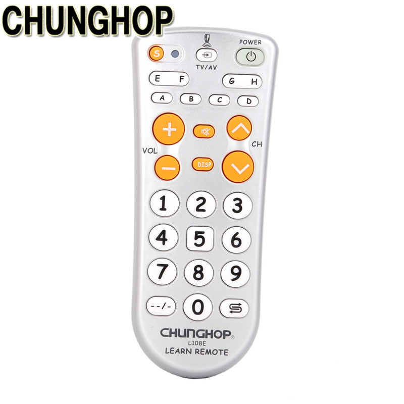 CHUNGHOP TV Remote Control Universal New L108E Learning Function 11-key Remote Controller Universal Control chunghop l102 universal single 11 key learning ir remote control silver white 2 x aaa