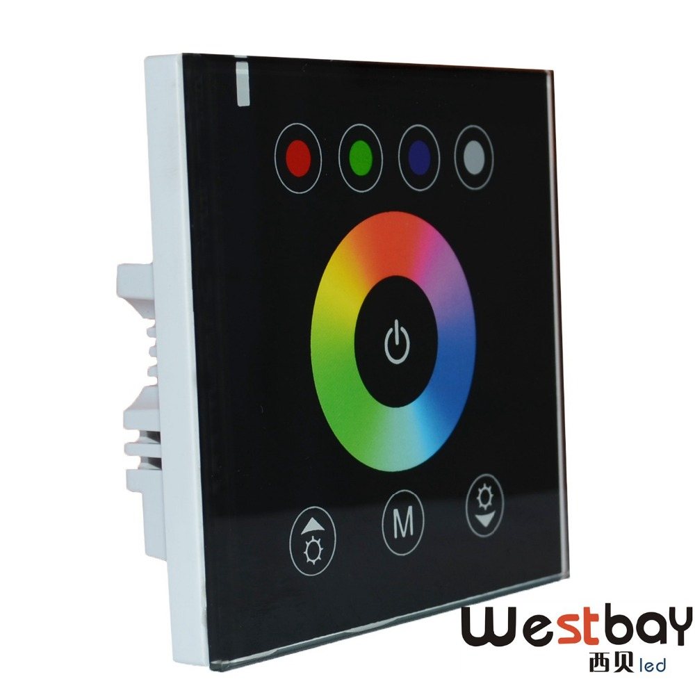 free shipping diy home lighting new rgbw led touch panel controller for led neon flex strip. Black Bedroom Furniture Sets. Home Design Ideas