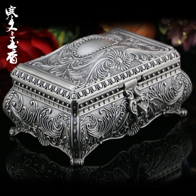 Russia with lock jewelry box Princess European style Korean ring