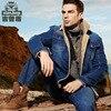 Men Winter Jacket Coats Brand Clothing Denim Jacket Fashion Mens Jeans Thick Warm Military Bomber Male