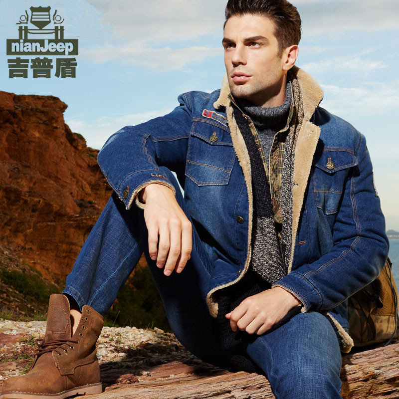 Men Winter Jacket & Coats Brand Clothing Denim Jacket Fashion Mens Jeans Thick Warm Military Bomber Male Cowboy Plus size M-4XL afs jeep autumn jeans mens straight denim trousers loose plus size 42 cowboy jeans male man clothing men casual botton page 2