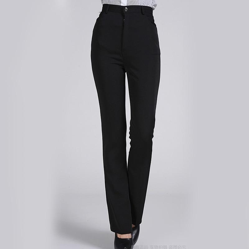 New Arrival Autumn Winter Pants Women Western Style OL Plus Size Formal Pants Work Wear Black ...
