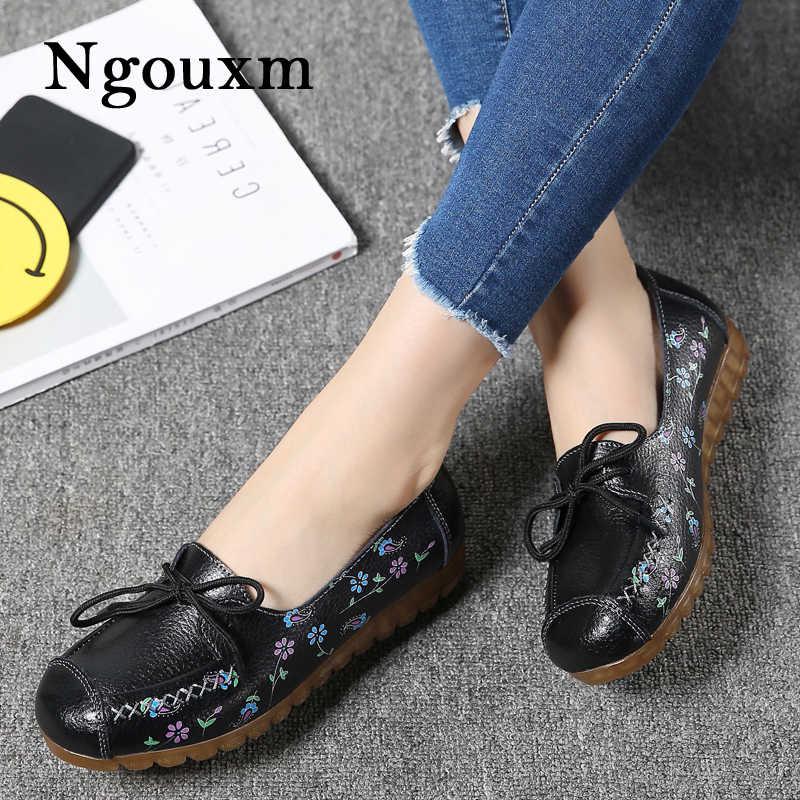 Ngouxm 2019 Women Flats Loafers Shoes