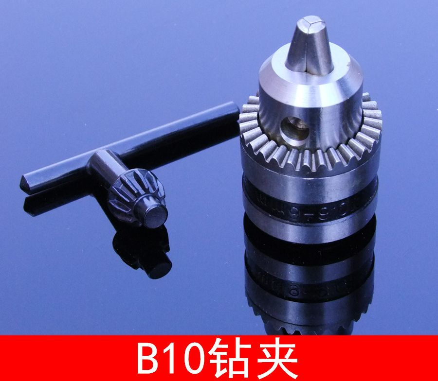 B10 0.6-6mm Clamp Micro Drill Chuck Electric Drill Chuck Connecting Rod Wrench Steel Axle Sleeve 5mm 6mm 8mm 10mm Shaft Sleeve chrome vanadium steel ratchet combination spanner wrench 9mm