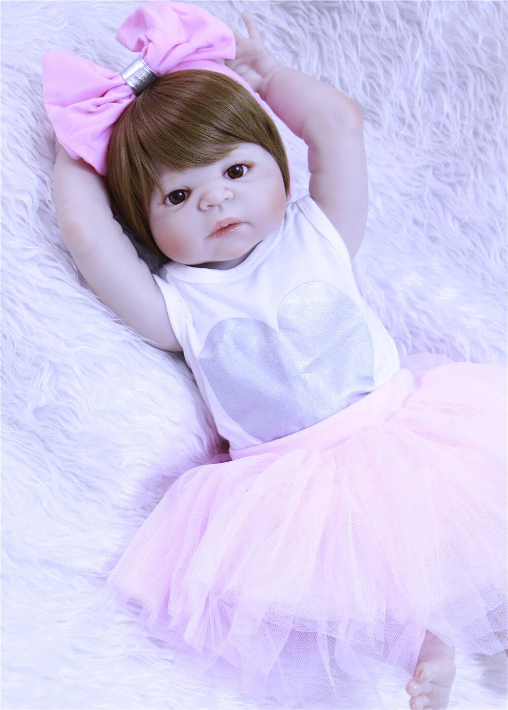 NPK faux bébé poupées en silicone reborn jouets pour enfants cadeau 23