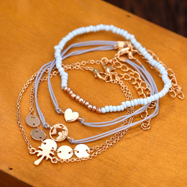 5 PCS/Set Charm Bracelets