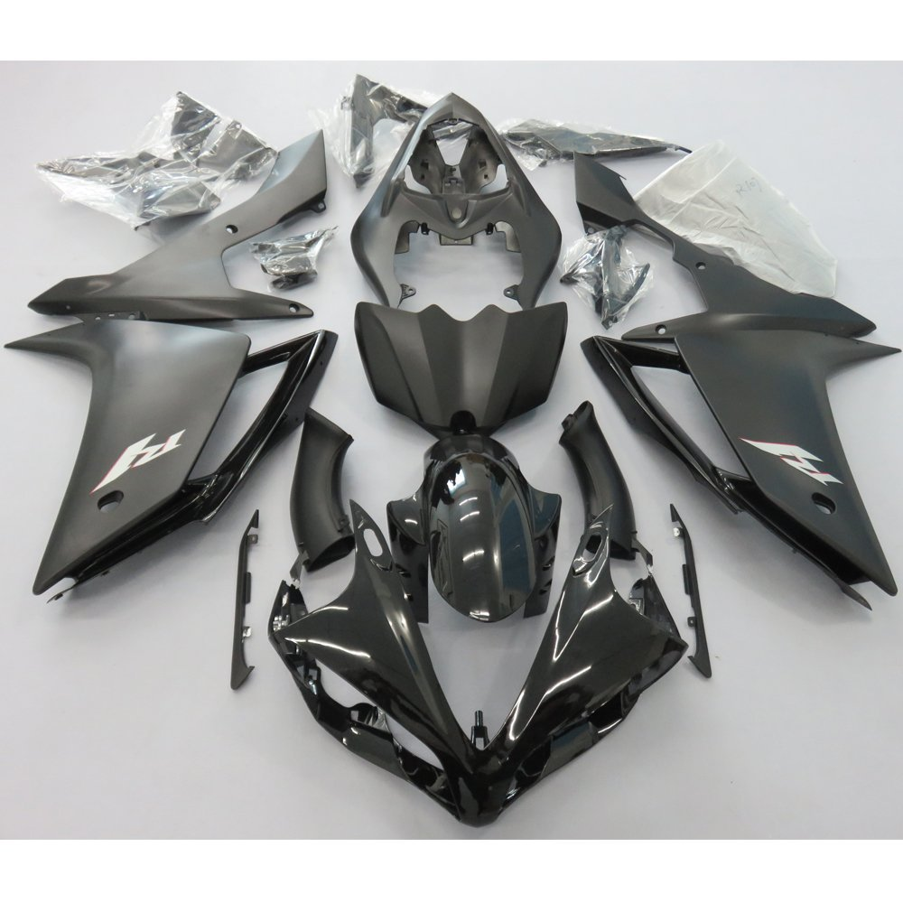 Motorcycle Fairing Kit Bodywork For Yamaha YZF R1 YZF1000 2007 2008 YZFR1 YZF-R1 07 08 Fairings Injection Molding Matt Black UV injection molding motorcycle parts for yamaha yzf r1 2007 2008 fairings set yzf r1 07 08 all matte silver abs fairing kit qz54