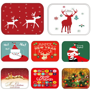 Mat in Hallway Kitchen Rubber Doormat Merry Christmas Deer Welcome Home Decor Living Room Rug Anti-Slip Dustproof Carpet 48236-1 image