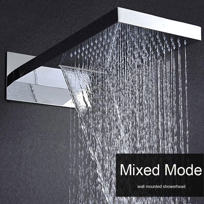US $538.0 |Badezimmer Wand Montiert Dusche Kopf 2 Funktion Decke Regen,  Wasserfall Massage 304 Edelstahl Poliert mit Embedded Box-in Duschköpfe aus  ...