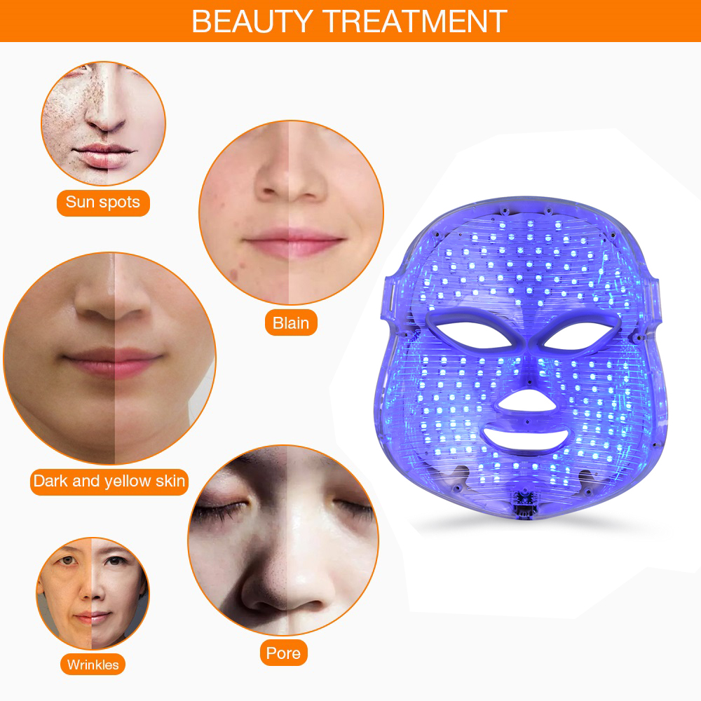 Image 3 - Beauty Photon LED Facial Mask Therapy 7 colors Light Skin Care Rejuvenation Wrinkle Acne Removal Face Beauty Spa  Instrument-in Face Skin Care Tools from Beauty & Health