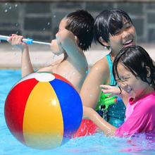YOOAP  PVC Inflatable Beach Ball Multicolored Children Bath Toy Kid Summer Shower Swimming Toys Tools outdoor game