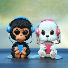 Car Dashboard Toys Music Nodding Dog Shaking Head Bobblehead Dolls Cute Wobble Head Accesso