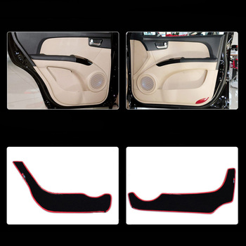 4pcs Fabric Door Protection Mats Anti-kick Decorative Pads For Kia Sportage