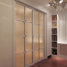 Champagne gold frosted electrostatic glass window paper Translucent opaque bathroom washroom kitchen blackout film