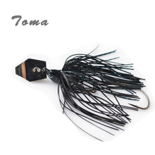 TOMA 3PCS/lot Lead Head Spinner Buzzi Bait Fishing Lures 3/8oz Colors Silicone skirt Spinnerbait Metal Lure With Crank hook