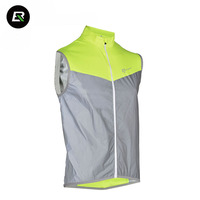 RockBros Reflective Sleeveless Cycling Jersey Cycling Vest Safety Night Riding Downhill MTB Road Bike Jersey Bicycle