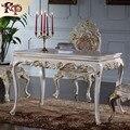Мебель класса люкс золото-из массива дерева Ручной Работы Шлифовальный классический обеденный стол