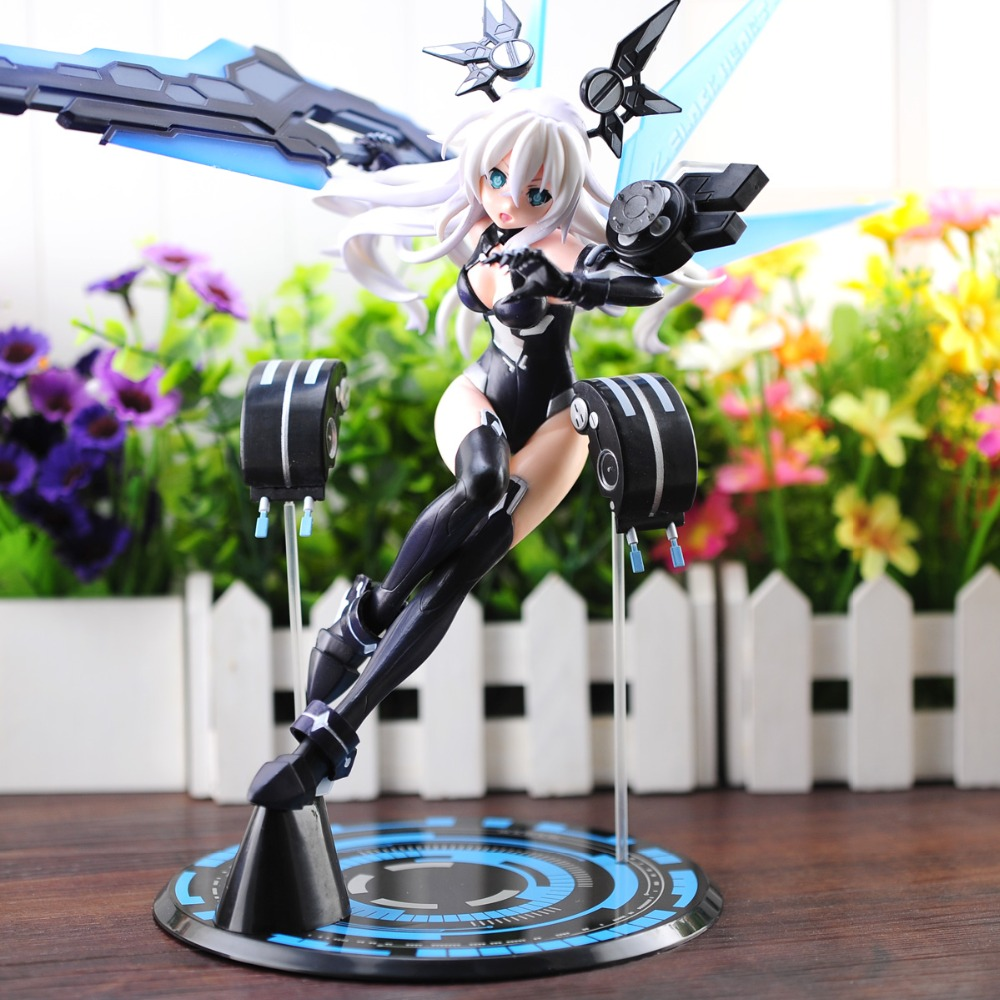 Japan Anime Hyperdimension Neptune Black Heart 1/7 Scale Pre-painted PVC Figure Collectible Model Toy 31cm Free Shipping terminator 3 rise of the machines t x 1 6 scale pre painted pvc action figure collectible model toy 28cm