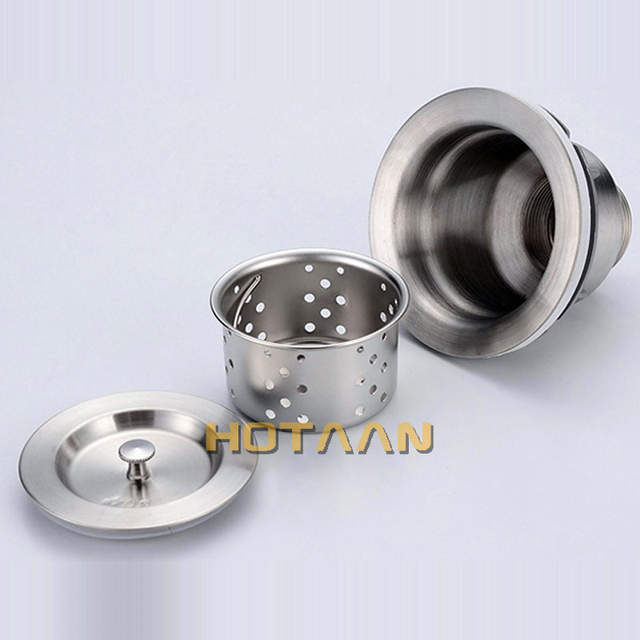 Free Shipping 110mm 4 3 Kitchen Sink Basket Strainer With Er Stainless Steel