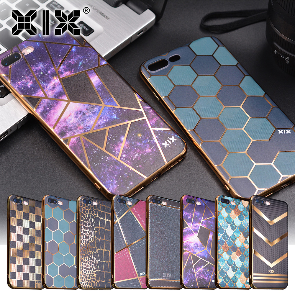For funda iPhone 6S case 6 7 8 Plus X Electroplate soft silicone TPU for coque iPhone X  ...